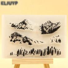 KLJUYP Snow Mountain Clear Stamps Scrapbook Paper Craft Clear stamp scrapbooking KL341