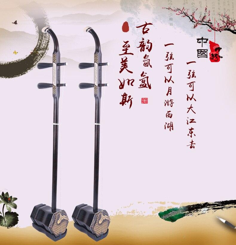 Ébène Bois Chinois Erhu Deux Cordes Violon Instruments Urheen Avec Colophane De Rechange Cordes Arc Cas