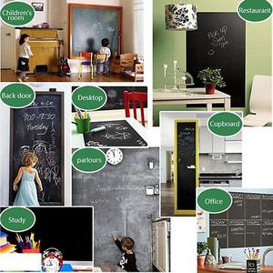Chalkboard 200*60CM Black Self-Adhesive Blackboard Wall Sticker Waterproof Removable Reusable Sticker Poster with 5 Color Chalk