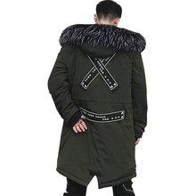 Модная осенне-зимняя куртка мужская с капюшоном теплые пальто парки мужские длинные уличные стильные мужские зимние куртки s ветрозащитная мужская верхняя одежда