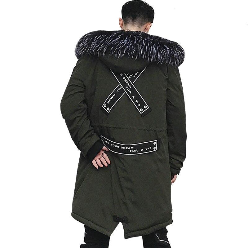 Mode automne hiver veste hommes à capuche chaud manteaux Parkas hommes longue rue Style veste d'hiver pour homme coupe-vent vêtements pour hommes