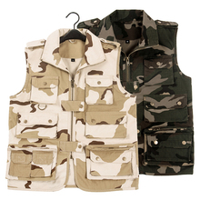 Outdoor gilet Protection reporter vest voodoo tactical camping On foot hunting anti-wear14 pocket multi-purpose camo casual vest