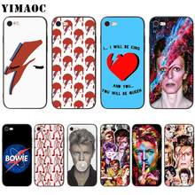 Yimaoc David Bowie Art Zachte Siliconen Case Voor Iphone 11 Pro Xs Max Xr X 8 7 6 6S plus 5 5 S Se(China)