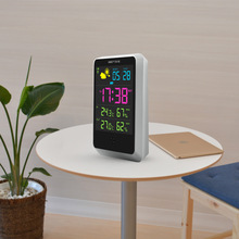 DIY thermometer and hygrometer, weather forecaster intelligent alarm clock, multi-function wireless day temperature hygrometer