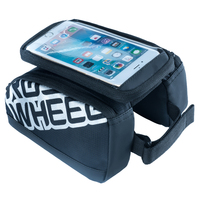 ROSWHEEL Multifunctional 5 5 Inch Cycling Bicycle Double Pouch Bag Waterproof Touchscreen Cell Phone Case MTB