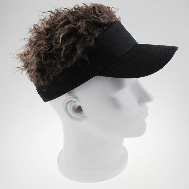 3f94b7ab797 2017 New Arrive Adjustable Baseball Hat Man s Women s Toupee Wig Funny Hair  Loss Cool Golf Caps