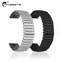 Stainless Steel Watch Band 16mm 18mm 20mm 22mm 24mm Universal Watchband Elastic Strap Loop Wrist Belt Bracelet Silver + Tool 22mm 24mm silicone rubber watchband tool for ferrari watch band stainless steel safety buckle strap wrist belt bracelet black