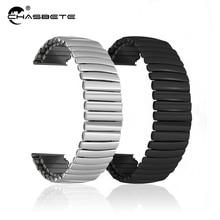 Stainless Steel Watch Band 12mm 14mm 16mm 18mm 20mm 22mm 24mm Elastic Strap Loop Wrist Expansion Belt Strech Bracelet black