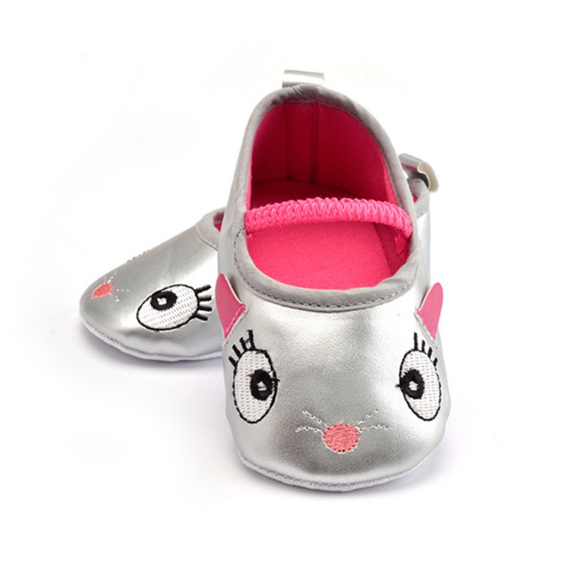 Best Price!0-12M Baby Toddler Girls Cute Cartoon Shoes Prewalker Soft PU Leather Crib Shoes
