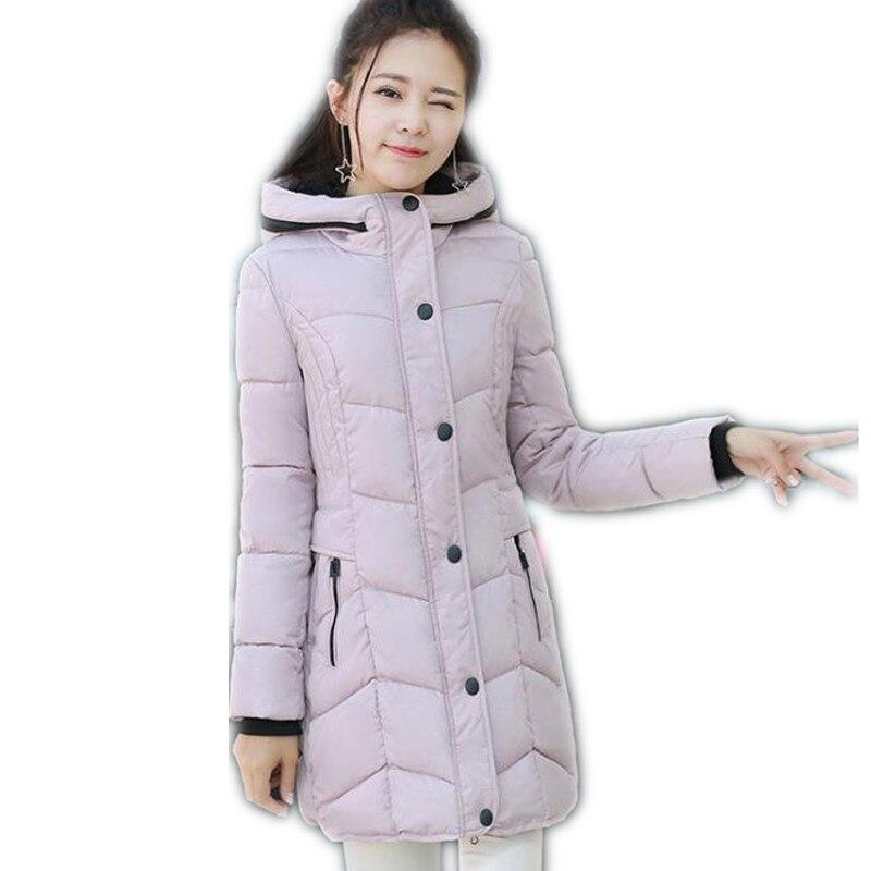 купить 2017 New Winter&Autumn Women Down Cotton Medium-Long Jacket Parka Female Hooded Slim Size M-3XL Outerwear Cotton Warm ParkaCQ529 недорого