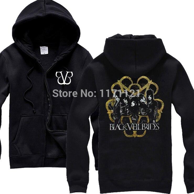 Black Veil Brides Stripes Mens Black BVB SWEAT black new hoodie