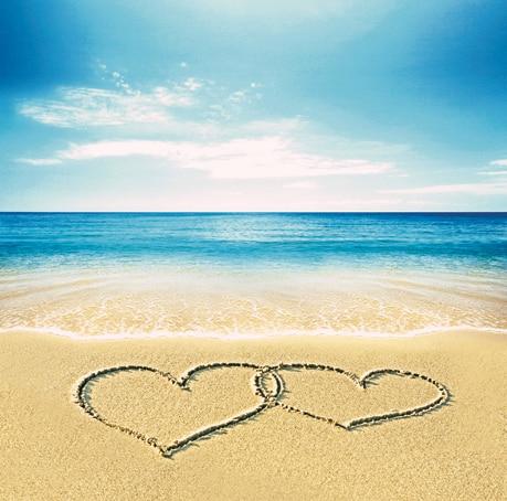 5 6 5ft Blue Sea With Golden Beach Photo Background Vinyl