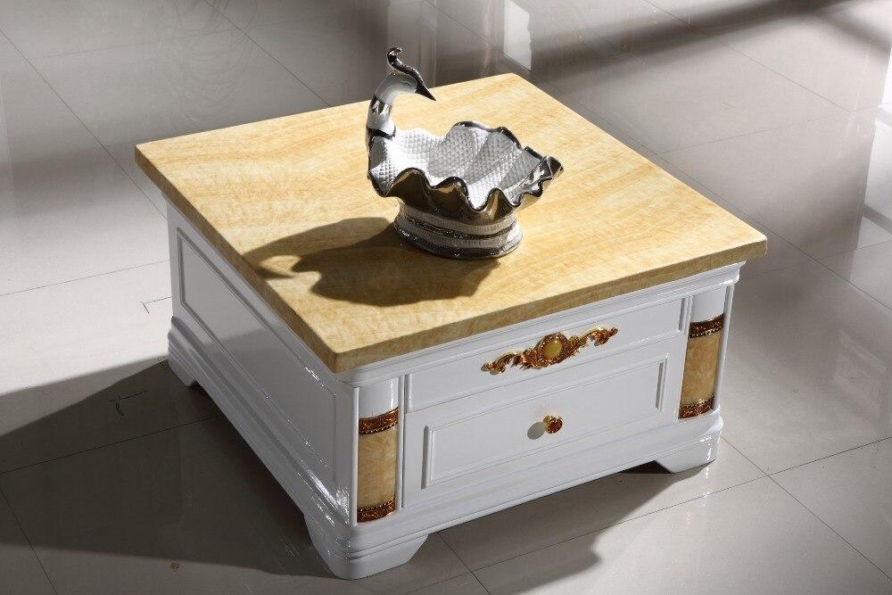 Современный деревянный угловой столик ящик для хранения мраморной столешницей Сделано в Китае мебель для гостиной
