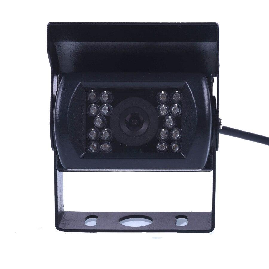 Bus HD CCD cámara de visión frontal cámara frontal sin espejo 120 grados 18 ir nightvision impermeable bus camión Cámara