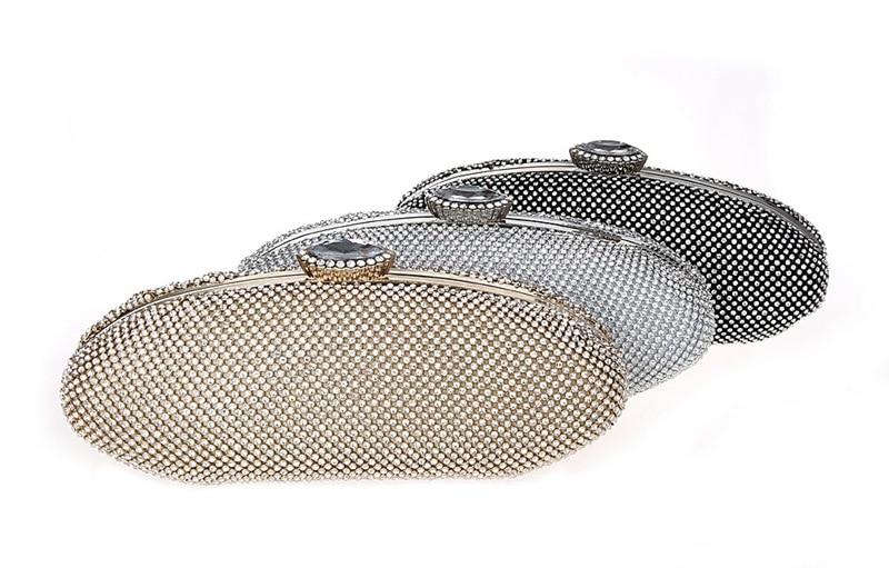 fashion luxury diamond silver evening bags gold rhinestone clutch crystal purse glitter handbags bolsa feminina smycwl