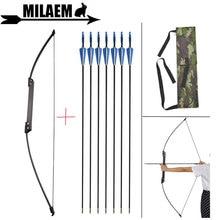 35lbs/40lbs Archery Recurve Bow With 6pcs Fiberglass Arrow 80cm Black Fold Outdoor Sports Shooting Accessories
