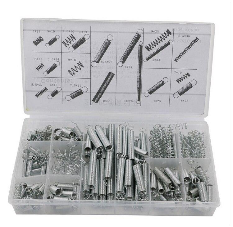 200 pz/set Primavera/molla di estensione/primavera/Kit/scatola di plastica pp scatola trasparente 20 specifiche