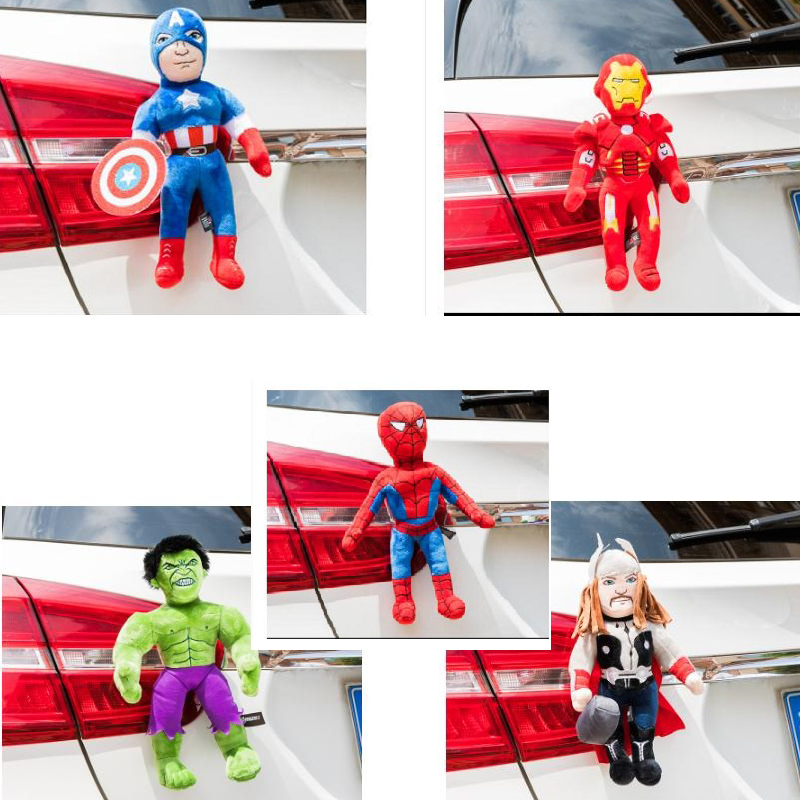 Car styling Roof decoration dolls Spiderman Superman car exterior car stickers cute car outside dolls rear Ornament partol black car roof rack cross bars roof luggage carrier cargo boxes bike rack 45kg 100lbs for honda pilot 2013 2014 2015