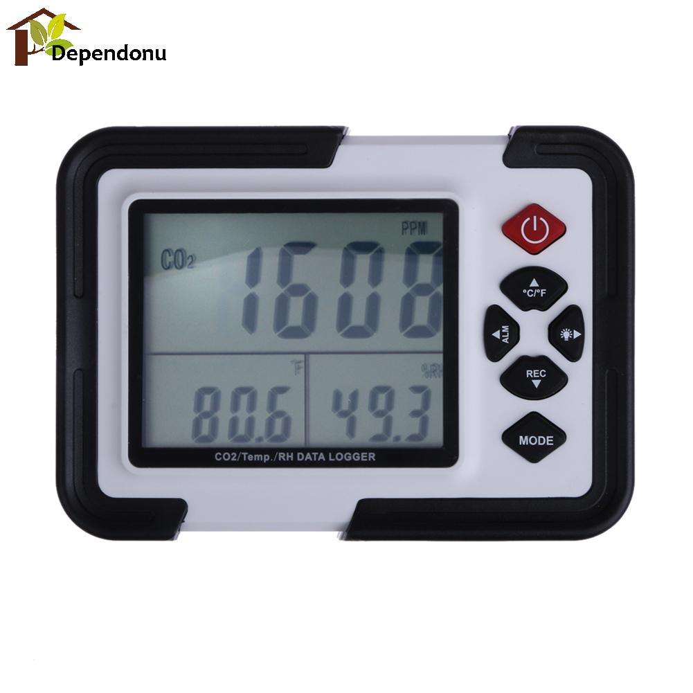 9999ppm Carbon Dioxide (CO2) Data logger Monitor Temperature Meter Humidity Carbon Dioxide Tester Gas Detector Analyzer 0 2000ppm range wall mount indoor air quality temperature rh carbon dioxide co2 monitor digital meter sensor controller