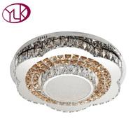 Luxe Moderne LED Plafond Lampe Pour Salon Dia80cm Grand Lamparas De Techo led Lustre De Plafond Cristal Luminaire