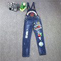 2016 new winter sequined cowboy slim  pencil jeans Korean students all-match winter long hole jeans