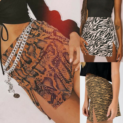 Hot Fashion Sexy Women Lady Leopard Stretch High Waist Elastic Bodycon Bandage Mini Short Pencil Skirt Club Skirts in Skirts from Women 39 s Clothing