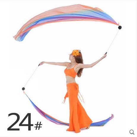 Belly dance accessories senior IMITATED SILK FABRIC 0.7*1.95m belly dance veils for women belly dance sacrf