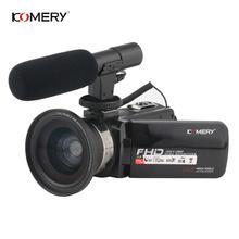 KOMERY Video Camcorder 3 0 Inch LCD Touch Screen 16X Digital Zoom 24 Million Pixels 1080P Video Camera With WIFI Microphone tanie tanio Przenośne 2 -3 24000000 1 3 cali 21x-40x Do użytku domowego Karta SD 1080P (Full-HD) 301g-400g Cmos Elektroniczna stabilizacja obrazu