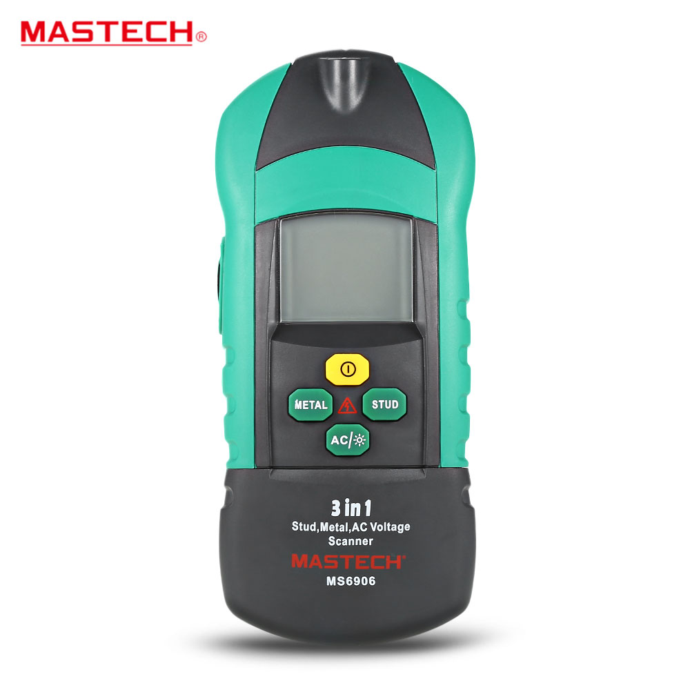 Newest MASTECH MS6906 3 in 1 Multifunctional Metal detector wood stud thiness tester AC Voltage scanner industrial feeler gauge цена