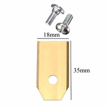 30pcs Gold Titanium Replacement Lawnmower Blades with Screws for Mower Accesories 0.6mm