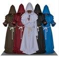 FRETE GRÁTIS Monk Robes Com Capuz Manto Cabo Frei Medieval Renascentista Priest Homens Traje Cosplay traje de Halloween para os homens