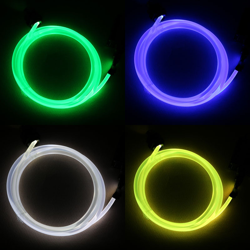 Image 5 - 5mX Transparent side glow plastic PMMA fiber optic cable solid core optic cable diameter 1.5mm/2mm/3mm/4mm/6mm/8mm free shipping-in Optic Fiber Lights from Lights & Lighting on