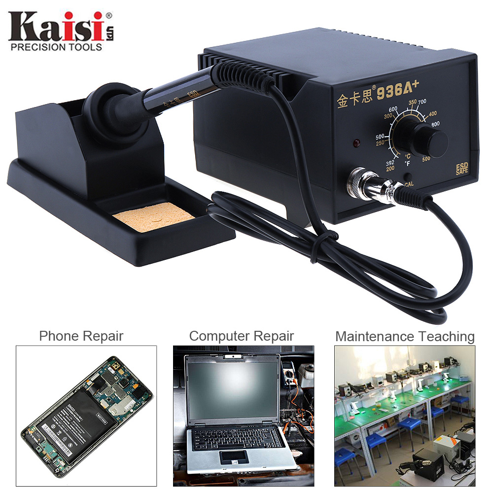 Kaisi 220V 60W Adjustable Constant Temperature Soldering Station with Soldering Iron and Holder for Welding Electronic