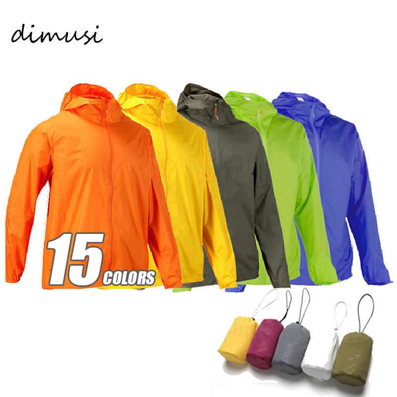 DIMUSI Мужская брендовая быстросохнущая куртка для кожи Солнцезащитная Водонепроницаемая УФ Женская тонкая армейская верхняя одежда Ультралегкая ветровка 3XLYA105
