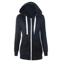HOT SALE Hoodies Sweatshirt Ladies Women Men Coat Top NEW Unisex Plain Zip Up Hooded Zipper