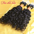 8A grade Micro Loop human air Extensions real Indian hair 1g/strand Best quality Curly hair Extension Micro Loop Ring for sale