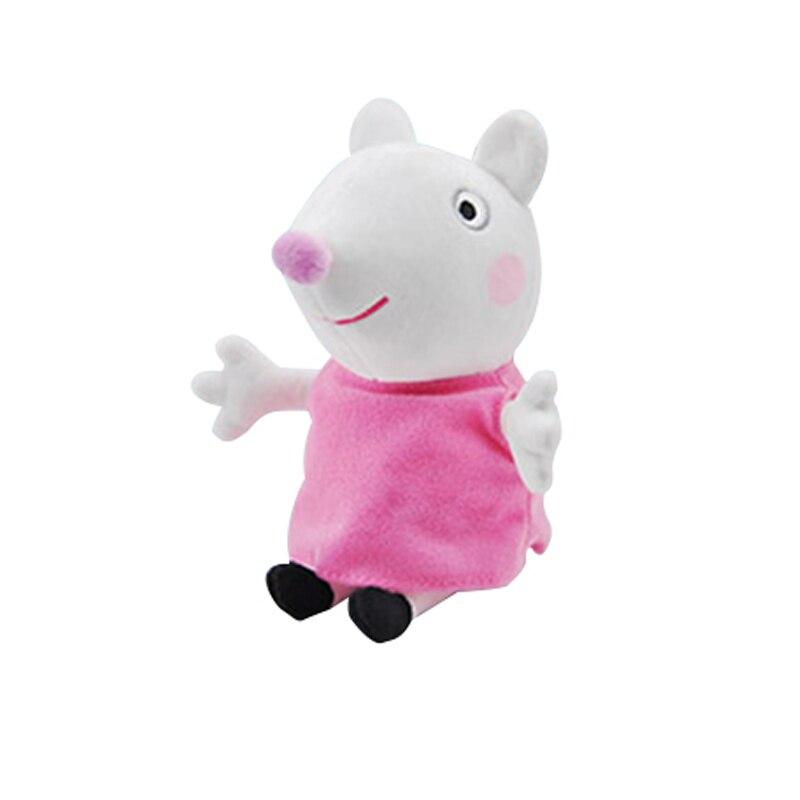 19 см оригинальная Свинка Пеппа Джордж Животные Мягкие плюшевые игрушки мультфильм семья папа мама друг Pelucia мягкие куклы игрушки детские подарки - Цвет: Susy Sheep