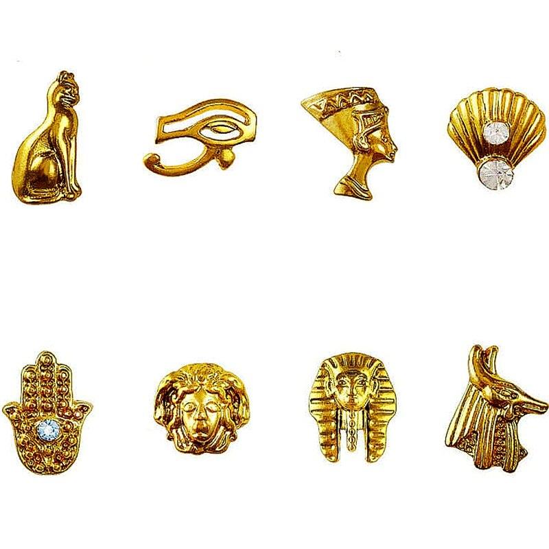 20pcs Beauty Egyptian Style Gold Nail Charms 3d Metal Nail