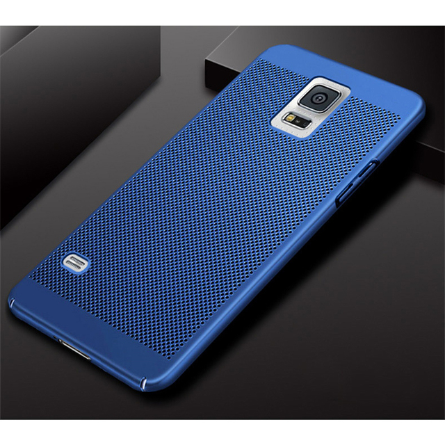 wholesale dealer d5e27 de0f6 US $1.89 5% OFF|FUYUKEJI new generation Ventilation holes For Phone Case  Samsung Galaxy S5 Case luxury PC Back cover For Samsung S5 I9600 Funda -in  ...