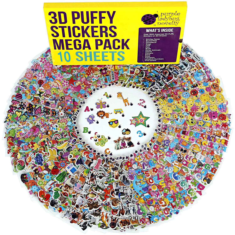 10 Sheets Random Children Stationery Stickers Cute Cartoon Animal Series Kids School Supplies Toy Stickers For Kids Gift