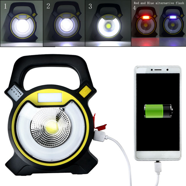 Brand New Wireless 5W 4Mode Super Bright LED Rechargaeble COB Work ...