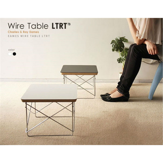 Hot S Tea Table Wire Base Coffee Simple Ltr End Modern Small