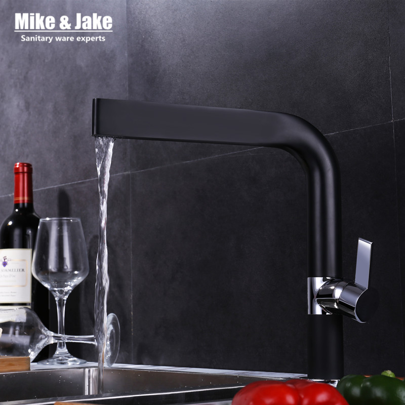 hot discount black kitchen faucet 360 ronating sink mixer bl