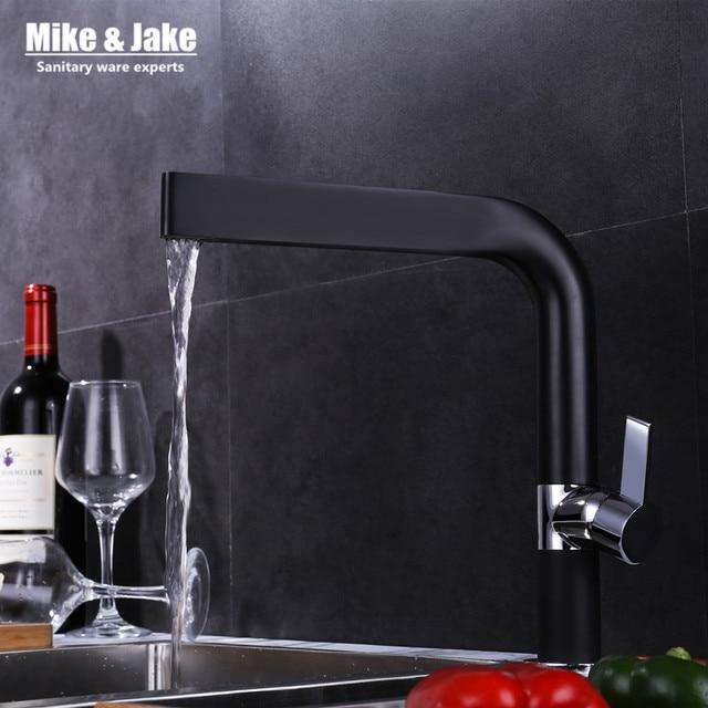 Nero cucina lavello miscelatore rubinetto della cucina 360 ronating ...
