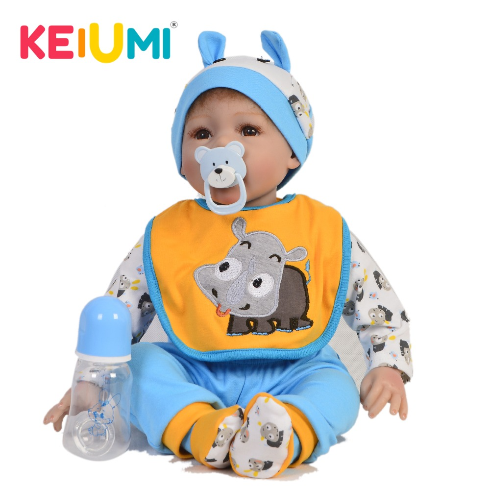 KEIUMI 22 Inch Lifelike Reborn Baby Doll Soft Silicone Cloth Body Realistic Baby Toy Doll For Toddler Birthday Gift Kid PlaymateKEIUMI 22 Inch Lifelike Reborn Baby Doll Soft Silicone Cloth Body Realistic Baby Toy Doll For Toddler Birthday Gift Kid Playmate