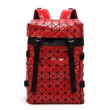Новинка 2017 года ведро женщин сумка алмазов решетки Tote Геометрия Стеганый рюкзак SAC сумки женщин большой емкости саквояж