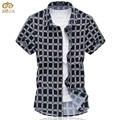 Super Large Size Plaid Chemise Homme 6XL 5XL Cotton Brand Clothing Mens Dress Shirt Summer Hawaiian Camisa Masculina 2017 New
