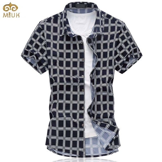 Super Large Size Plaid Chemise Homme 6XL 5XL Cotton Brand Clothing Mens Dress  Shirt Summer Hawaiian 77419689954