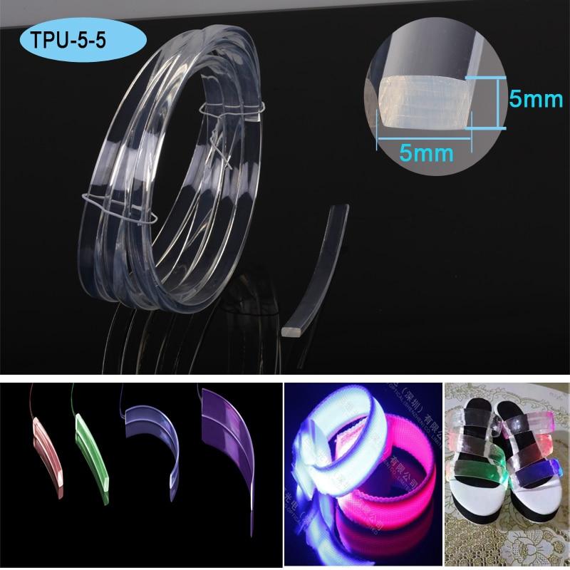 Rectangle Shape Square Side Light Plastic Optical Fiber Cable For Lighting