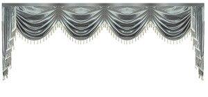 Image 3 - Gordijn Volant Swag Lambrequin voor Living Eetkamer Slaapkamer Luxe Stijl Venster Swag Europese Koninklijke Stijl